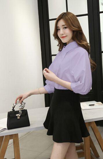 淡紫色衬衫